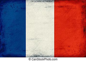 Vintage national flag of France background
