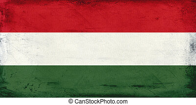 Vintage national flag of Hungary background