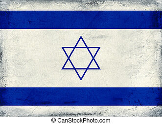 Vintage national flag of Israel background
