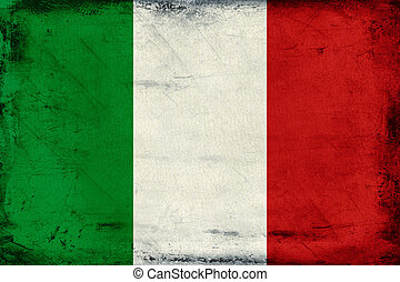 Vintage national flag of Italy background