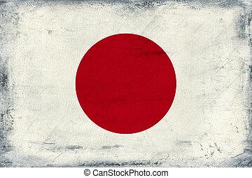 Vintage national flag of Japan background