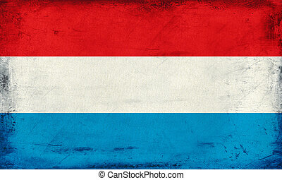 Vintage national flag of Luxembourg background