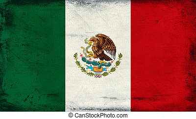 Vintage national flag of Mexico background
