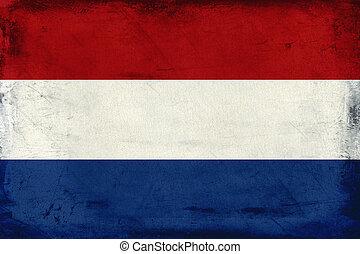 Vintage national flag of Netherlands background
