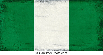 Vintage national flag of Nigeria background