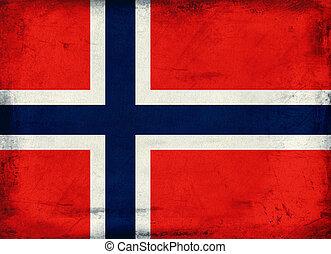Vintage national flag of Norway background