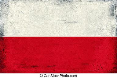 Vintage national flag of Poland background