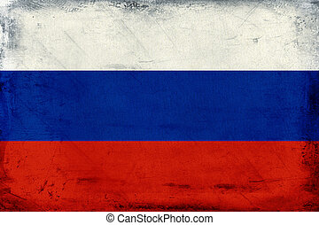Vintage national flag of Russia background