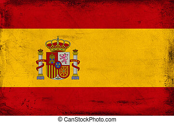 Vintage national flag of Spain background
