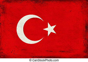 Vintage national flag of Turkey background