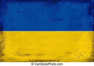Vintage national flag of Ukraine background