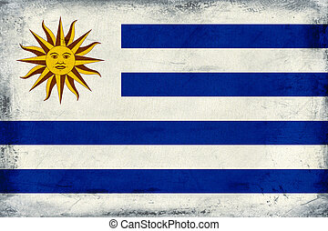 Vintage national flag of Uruguay background