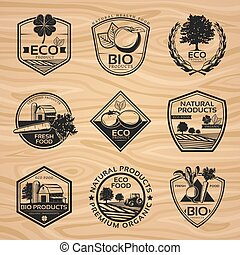 Vintage Natural Labels Collection