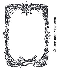 Vintage nautical and marine frame