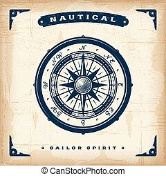 Vintage Nautical Compass