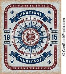 Vintage Nautical Heritage Typography