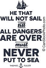 Vintage nautical illustration - Vintage style nautical text ...