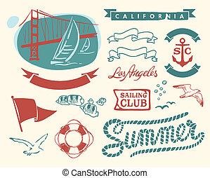 Vintage nautical set