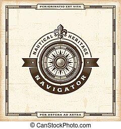 Vintage Navigator Label