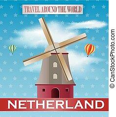 Vintage Netheland Travel vacation p