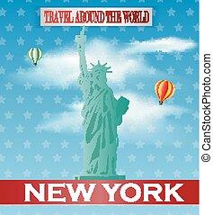 Vintage New York Travel vacation po