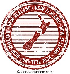 Vintage New Zealand Country Tourism Stamp