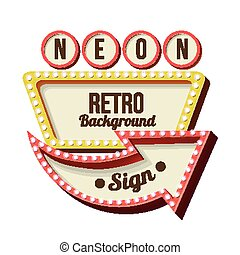 Vintage Night 3D advertising sign - Retro night sign with an...
