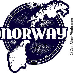 Vintage Norway Stamp - Classic vector Norway stamp.