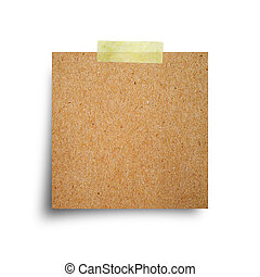 vintage note papers on white background