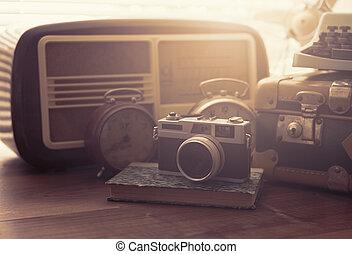 Vintage objects on a desk