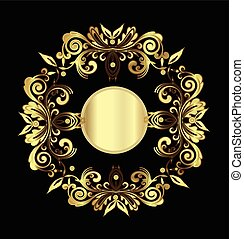 Vintage of gold floral decoration
