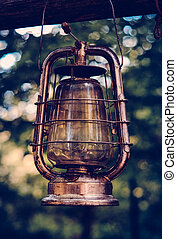 Vintage Oil Lamp WIth Retro Filter