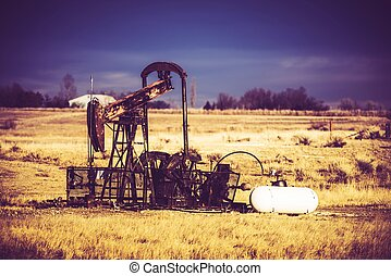 Vintage Oil Pump - Vintage Rusty Oil Pump in Colorado,...