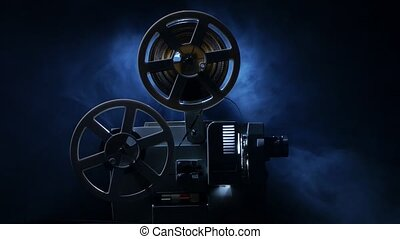 Vintage old 8 mm film projector