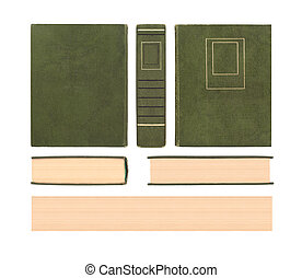 vintage old book textuse set isolated