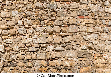 Vintage Old Brick Stone Wall