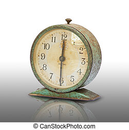 vintage old clock isolated