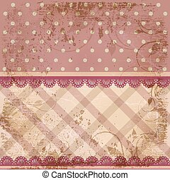 Vintage old fabric background
