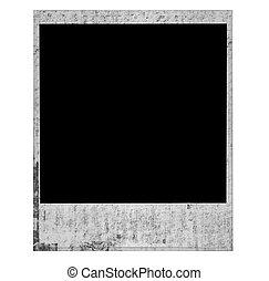 Vintage Old Grunge Polaroid Film Blank