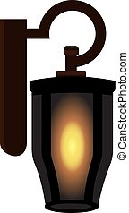 Vintage old lamp. isolated vector illustration