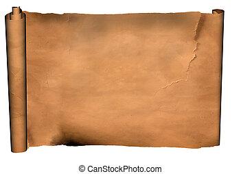 old manuscript - vintage old manuscript isolated on white