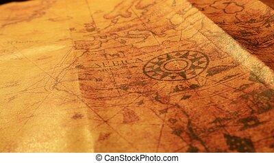 Vintage Old Map - Close up of a vintage old map