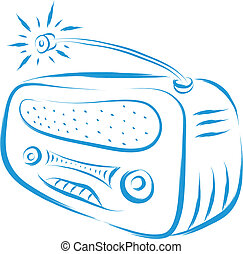 old radio - vintage old radio retro style vector ...
