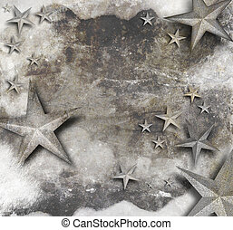 Vintage Old Star Background - A black and white sparkle star...