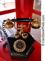 Vintage old telephone
