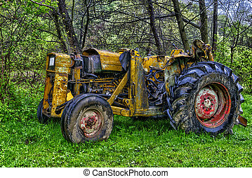 Vintage old tractor, Romania
