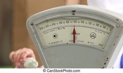 Vintage old weight scale.