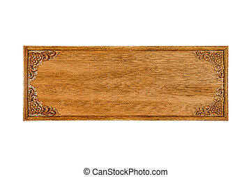vintage old wood board isolated on white