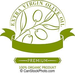 Vintage olive oil label.