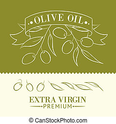 Vintage olive oil label.